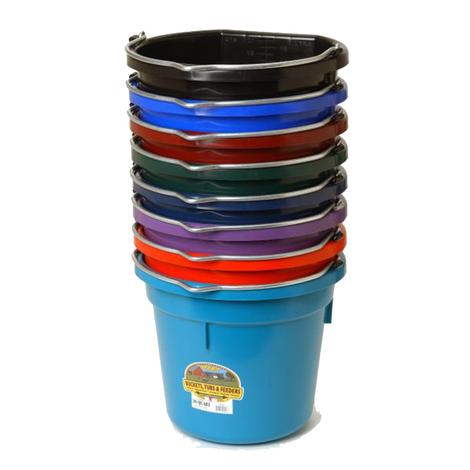 Miller MFG.Flat Back Plastic Bucket 20 Quart