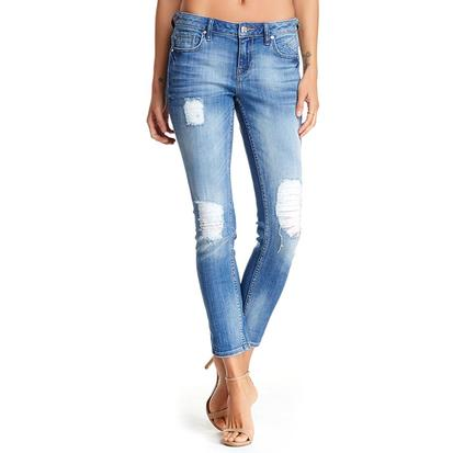 Vigoss Womens Thompson Destroyed Womens Jean