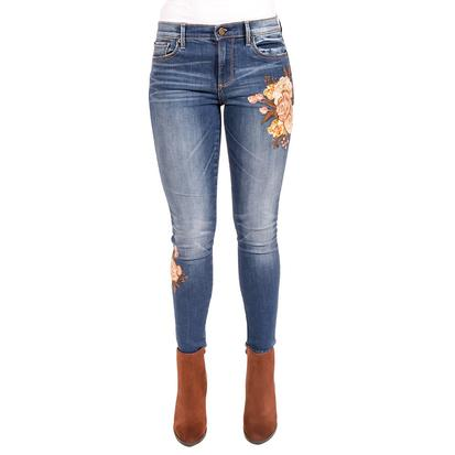 Driftwood Womens Jackie Cream Floral Skinny Jeans