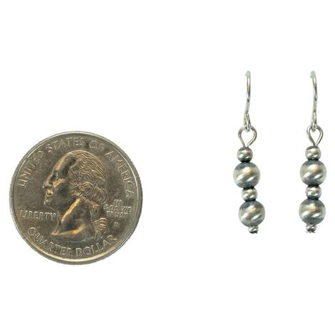 Sterling Silver Navajo Pearl Drop Earrings