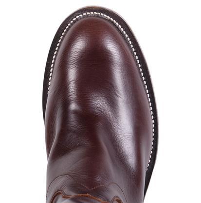 Olathe Mens Chocolate Leather Polo Boots