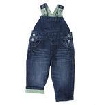 Wrangler Infant/Toddler Bib Overalls Green Gingham Trim