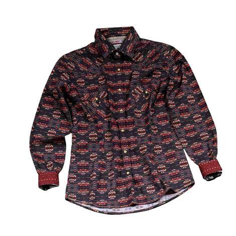 Panhandle Aztec Charcoal Print Women's Shirt