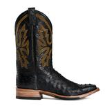 Rod Patrick Full Quill Ostrich Black Boots