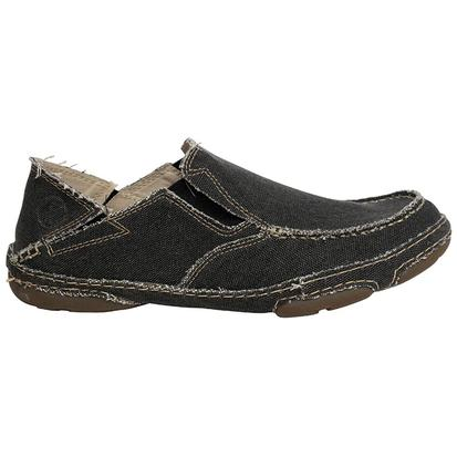 Tony Lama Mens Coal Black Slip On Shoe
