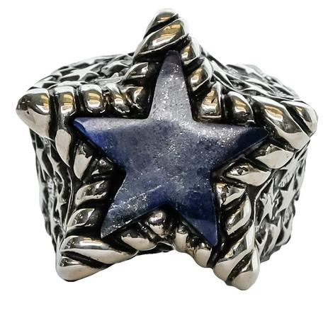 Silver Lapiz Star Ring