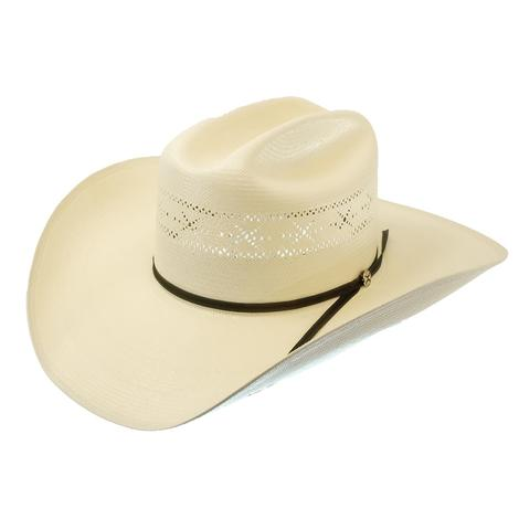 "Resistol Barbed Wire 4.25"" Brim Precreased Natural Straw Hat"
