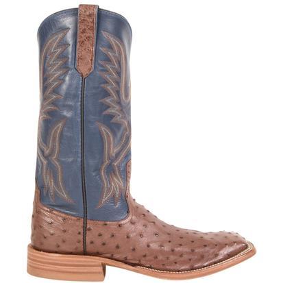 Rios of Mercedes Mens Cigar Full Quill Ostrich Cowboy Boots