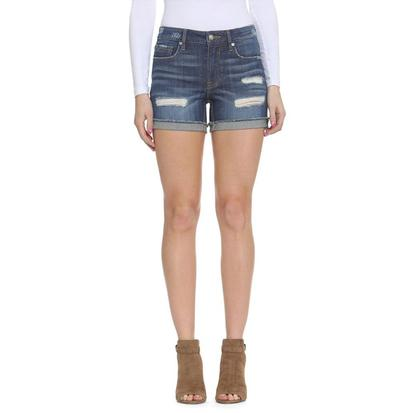 Vigoss Womens Denim Distressed Shorts