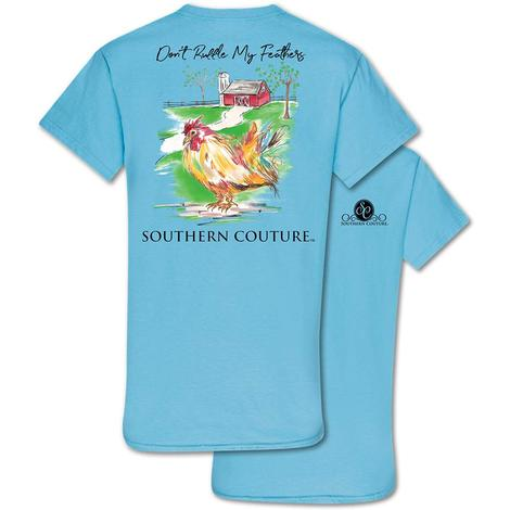 Southern Couture - Don't Ruffle My Feathers  - Sky Blue