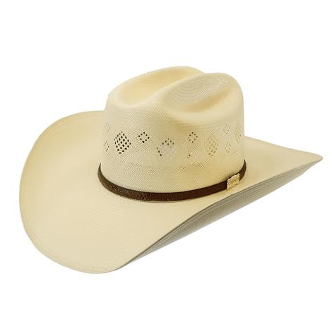 "Stetson Riverview N 4.25"" Brim Natural Straw Hat"