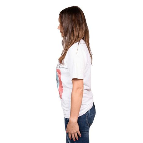 STT Womens Grey Eagle with Stripes White Tee