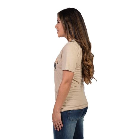 STT Womens Gone Riding Tan Tee