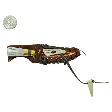 STT Antler and Brown Handle Knife 7