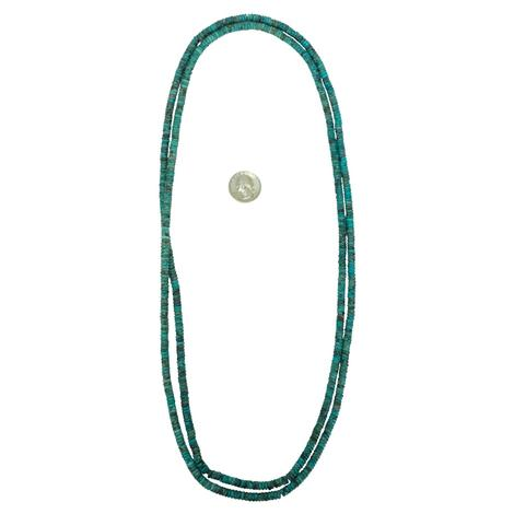 Turquoise Long Strand Necklace 48""