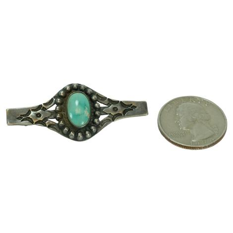 Vintage Silver and Turquoise Southwest Pin