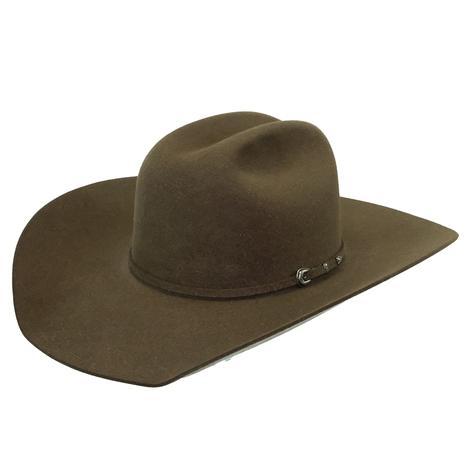 "Rodeo King 7X Hickory 4.25"" Brim Pre-Creased Felt Cowboy Hat"