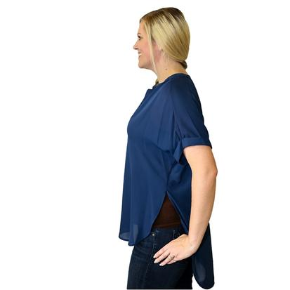Navy Blue Womens The Brenham Top