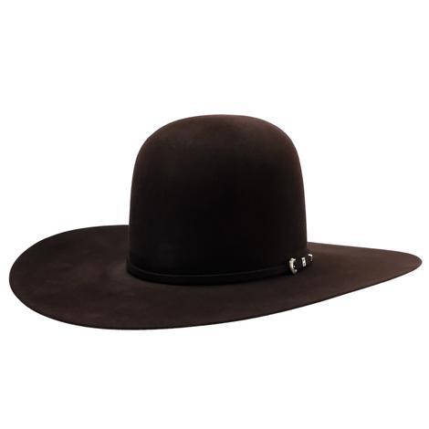 "South Texas Tack 10X Horseman Black Cherry 4.5"" Brim Open Crown Felt Hat"