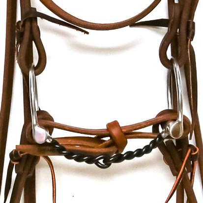 STT Bridle w/Stainless Steel Large Twisted Western Dee Bit