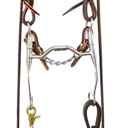 STT Bridle Set w/ Metalab Medium Shank Futurity Bit with Roping Reins