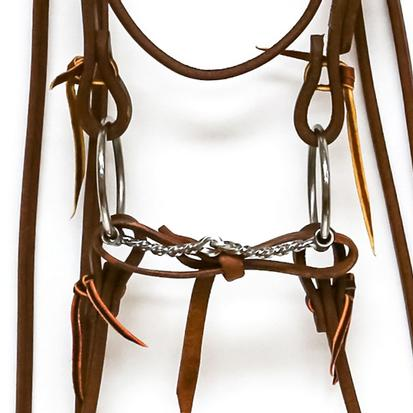 STT Bridle w/Square Twisted Loose Ring Bit