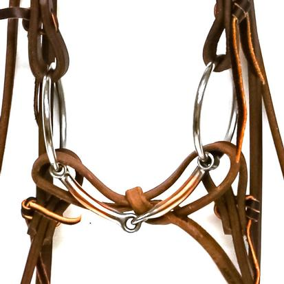 STT Bridle w/Copper Loose Ring Snaffle Bit