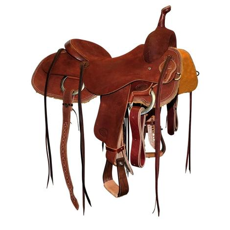 STT Full Chestnut Roughout Heavy Oil Cutting Saddle