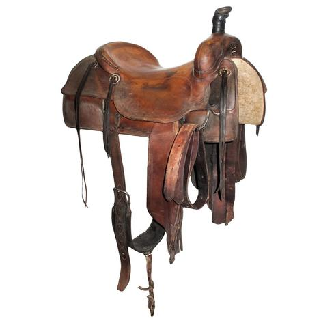 Jim McNulty Used 16in Slickout Ranch Cutter Saddle
