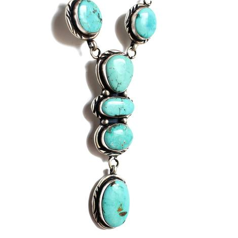 The Ruidoso Turquoise Lariat Necklace