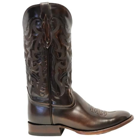 Tony Lama Patron Cognac Brush Off Men's Boots