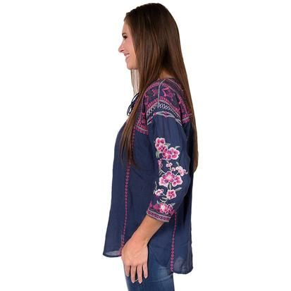 Johnny Was Womens Night Ariella Boho Top