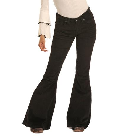 Rock & Roll Cowell Black Corduroy Bell Bottoms