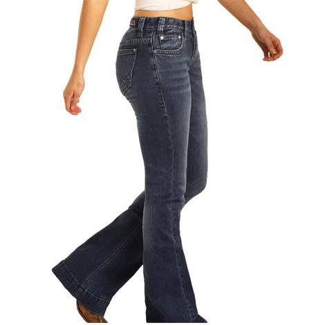 Rock and Roll Cowgirl Medium Wash Trouser