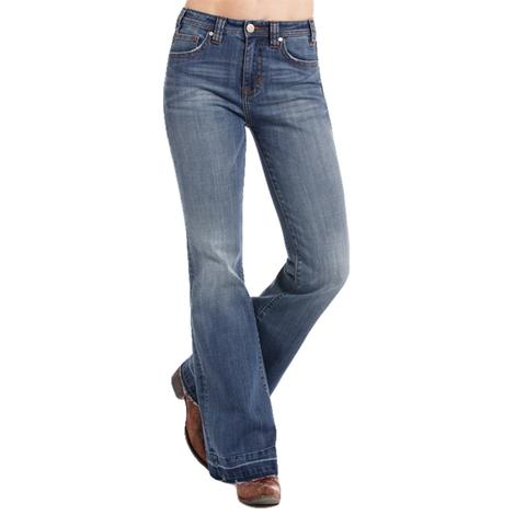 Rock and Roll Cowgirl Womens Highrise Trouser w/Simple Pocket Jeans