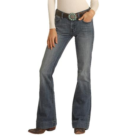 Rock and Roll Cowgirl Medium Vintage Mid Rise Women's Trousers