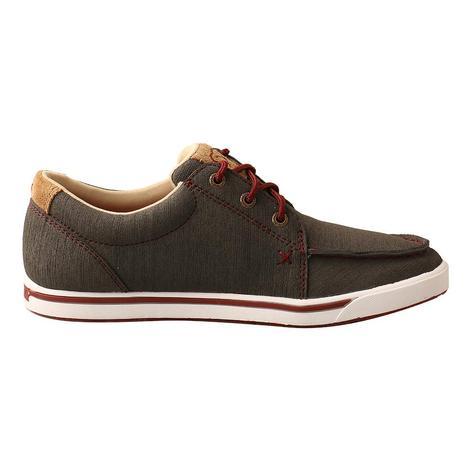 Twisted X Hooey Loper Dark Grey Red Lace Up Women's Shoe