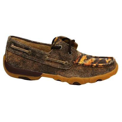 Twisted X Womens Shoes Driving Moc Tiger Pattern
