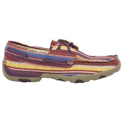 Twisted X Womens Casual Purple Multi Canvas Driving Moc