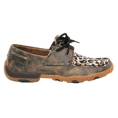 Twisted X Womens Cheetah Driving Slip On Shoe