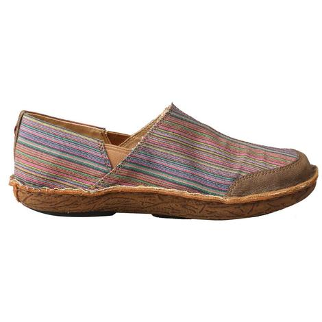 Twisted X Womens Serape Fabric Slipon Shoes