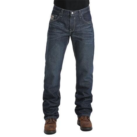Cinch Mens Carter Flame Resistant Mid Rise Relaxed Boot Cut Jeans