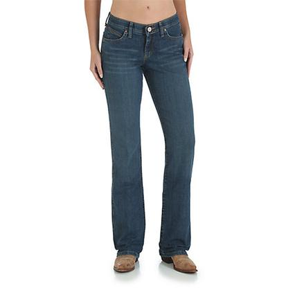 Wrangler Q-Baby Womens Ultimate Riding Jean Mid-Rise Boot Cut Tuff Buck (Extended Waist)