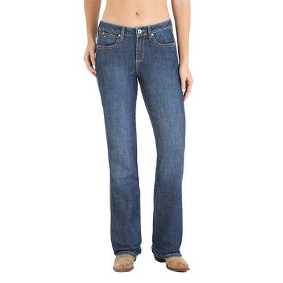 Wrangler Womens Aura Mid Rise Slimming Boot Cut Jean - BL Wash