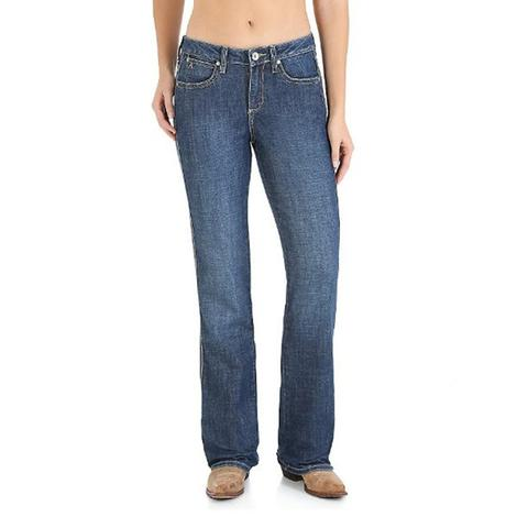 Wrangler Womens Slimming Boot Cut Western Jeans