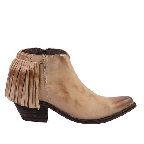 Old Gringo Womens Latika II Tan Shortie Fringed Boot