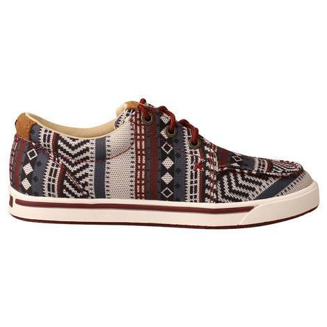 Twisted X Aztec Print Hooey Loper Boy's Shoes