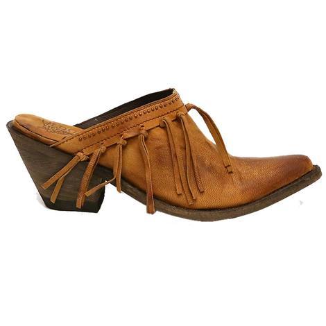 Old Gringo Womens Mabel Tan Fringe Clog Shoes