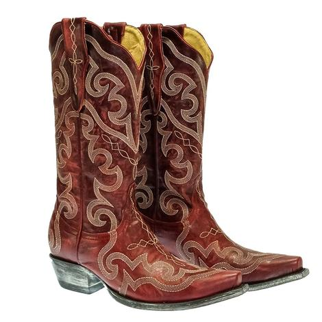Yippee Ki Yay by Old Gringo Vittoria Red Stitched Women's Boots