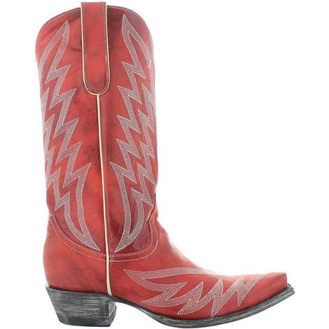 Old Gringo Yippee Ki Yay Red Uma Stitched Women's Boots